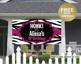HONK Birthday Banner | Personalized Birthday Banner | Lawn Birthday Banner | Yard Banner | Quarantine Birthday Banner | Kids Birthday Banner