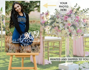 Graduation Photo Welcome Sign - Grad Party Sign in Board - Welcome Sign Congrats, Foam Board Sign, Welcome to the Party Sign, Class of 2019