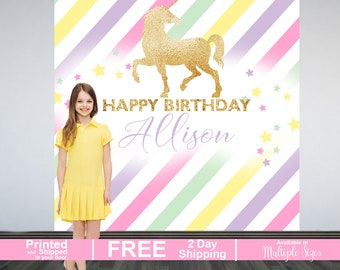Sparkle Unicorn Personalized Photo Backdrop | Birthday Photo Backdrop | First Birthday Photo Backdrop | Unicorn Backdrop | Birthday Backdrop