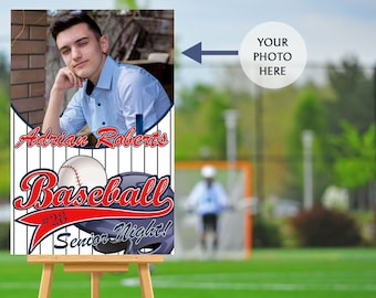 Senior Night Poster, High School Senior Night Poster, Baseball Senior Poster, Baseball Welcome Poster, Printed Foam Board Poster, Sports