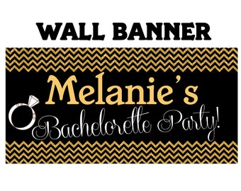 Bachelorette Banner  ~ Wedding or Anniversary Personalized Party Banners, Last Night Banner, Vinyl Banner, Printed Banner, Birthday Banner