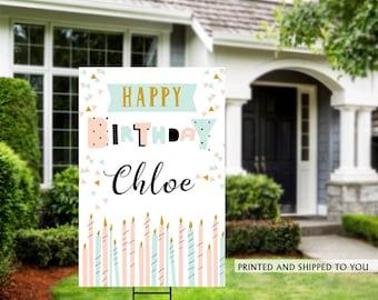 Birthday Yard Sign | Quarantine Birthday | Birthday Yard Sign | Birthday Signs | Candles Birthday Yard Sign | Happy Birthday Lawn Sign