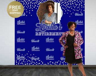 Retirement Personalized Photo Backdrop | 50th Birthday Photo Backdrop | Vinyl Photo Backdrop | Printed Photo Backdrop | Farewell Backdrop