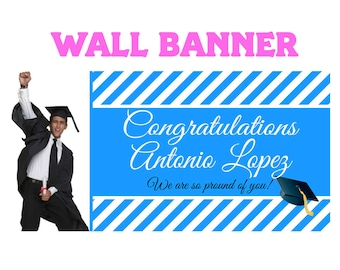 Graduation Photo Banner ~ Personalized Party Banner - Class of 2019 Banner- Congrats Grad Banner - Custom Banner