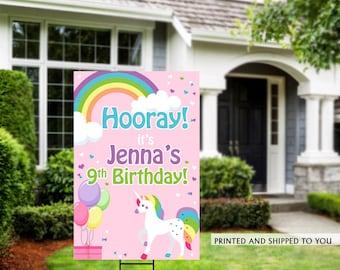 Honk Birthday Yard Sign   Quarantine Birthday   Birthday Yard Sign   Birthday Sign   Unicorn Birthday Yard Sign   Happy Birthday Lawn Sign  
