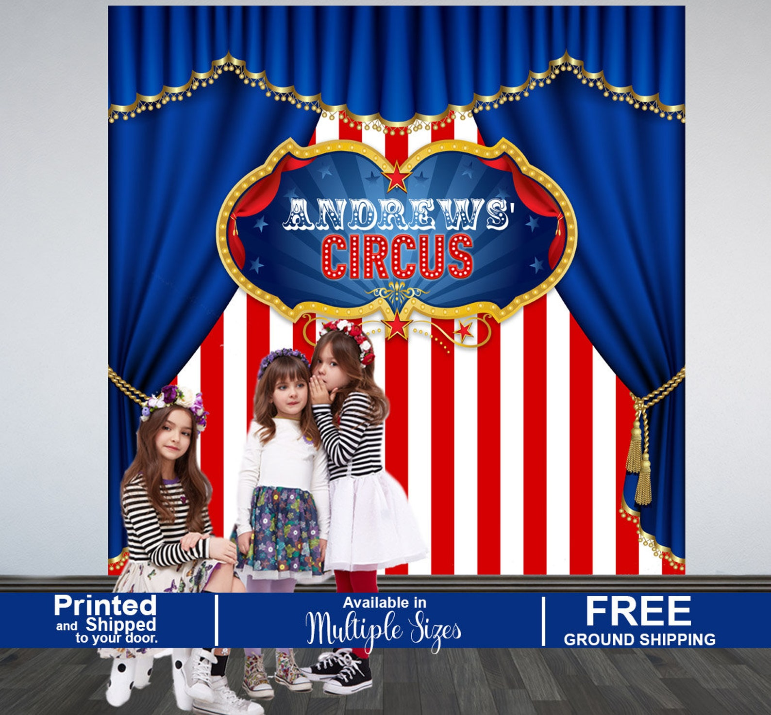 Circus Party Curtain Backdrops