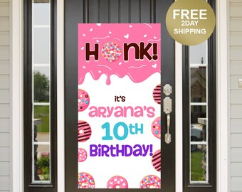 Quarantine Birthday Door Banner | Birthday Quarantine Banner | Birthday Door Banner | 16th Birthday Door Banner, Yard Banner, Donut Banner