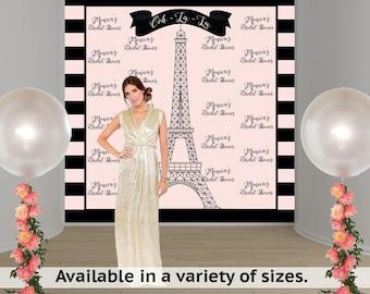 Parisian Dream Personalized Photo Backdrop - Birthday Photo Backdrop- Bridal Shower Photo Backdrop, Paris Backdrop - Effiel Tower Backdrop
