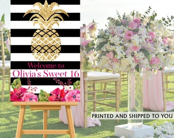 Pineapple Party Welcome Sign - Welcome to the Party Sign, Birthday Welcome Sign, Foam Board Welcome Sign, Printed Welcome Sign