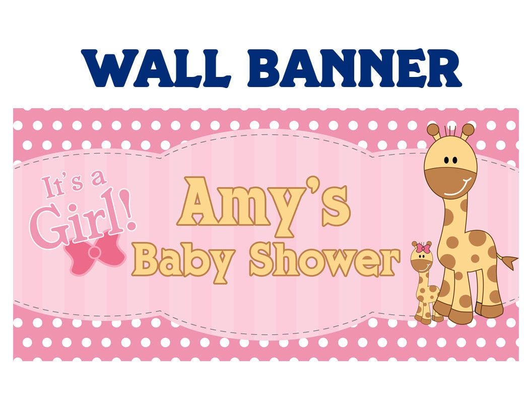 baby shower it s a girl baby giraffe welcome home baby girl