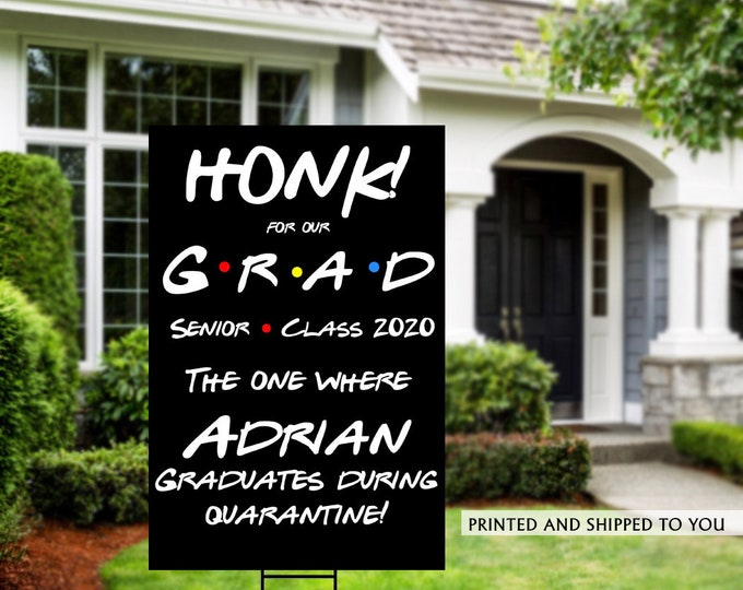 Featured listing image: Class of 2020 Graduation Photo Yard Sign - High School Senior Welcome Sign - Quarantine Grad Yard Sign | Graduation Yard Sign | Lawn Sign