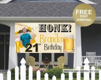 Quarantine Birthday Banner | Personalized Birthday Banner | Outdoor Banner | Birthday Banner | 21st Birthday Banner | Beer Birthday Banner