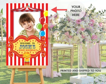 Carnival Welcome Sign, Welcome to the Party Sign, Birthday Welcome Sign, Foam Board Welcome Sign, Printed Welcome Sign, Canvas Sign - Circus