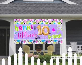 Birthday Banner | Personalized Birthday Banner | 90's Birthday Banner | Birthday Parade Banner | HONK Banner | Quarantine Birthday Banner