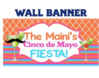 Fiesta Banner ~ Birthday Party Banner - Vinyl Banner - Fiesta Birthday Banner - 30th Birthday - 40th Birthday - Printed Banner
