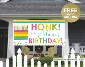 Birthday Banner | Personalized Birthday Banner | Printed Vinyl Banner | Custom Banner | HONK Birthday Banner |  Quarantine Birthday Banner