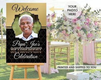 Retirement Party Welcome Sign, Welcome to the Party Sign, Happy Retirement Party Welcome Sign, Foam Board Welcome Sign, Printed Welcome Sign