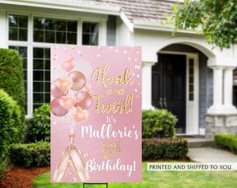 Honk Birthday Yard Sign   Quarantine Birthday   Birthday Yard Sign   Ballerina Birthday Yard Sign, Happy Birthday Lawn Sign