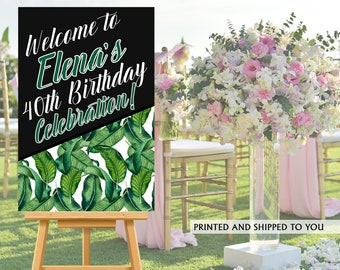 Summer Party Welcome Sign   Welcome to the Party Sign   Birthday Welcome Sign   Foam Board Welcome Sign   Printed Welcome Sign   Sweet 16