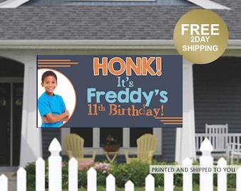 HONK Birthday Banner   Personalized Birthday Banner   Lawn Birthday Banner   Yard Banner   Quarantine Birthday Banner   Kids Birthday Banner
