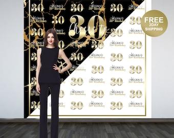 Marble Elegance Photo Backdrop   Gold Photo Backdrop   30th Birthday Photo Backdrop   16th Birthday Photo Booth Backdrop   Birthday Backdrop