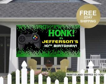 Birthday Banner | Personalized Birthday Banner | Video Game Banner | Lawn Banner | HONK Birthday Banner |  Quarantine Birthday Banner
