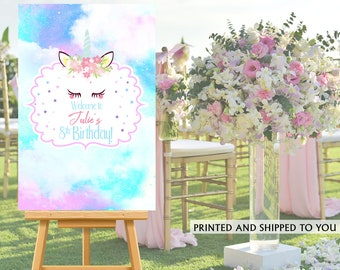 Unicorn Party Welcome Sign - Welcome to the Party Sign, Magical Unicorn Party Welcome Sign, Foam Board Welcome Sign, Printed Welcome Sign