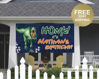 Quarantine Birthday Banner | Personalized Birthday Banner | Outdoor Banner | Birthday Yard Banner | Dinosaur Birthday Banner, Lawn Banner