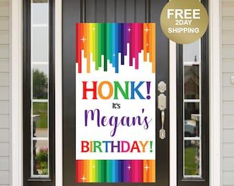 Quarantine Birthday Door Banner | Birthday Quarantine Banner | Birthday Door Banner | 16th Birthday Door Banner, Yard Banner, Rainbow Banner