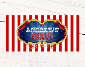 Circus Personalized Photo Banner, Carnival Photo Banner, Birthday Photo Banner, Printed Photo Booth Banner, Party Banner