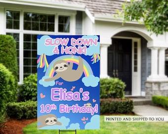 Honk Birthday Yard Sign   Quarantine Birthday   Birthday Yard Sign   Sloth Yard Sign   10th Birthday Yard Sign   Happy Birthday Sign