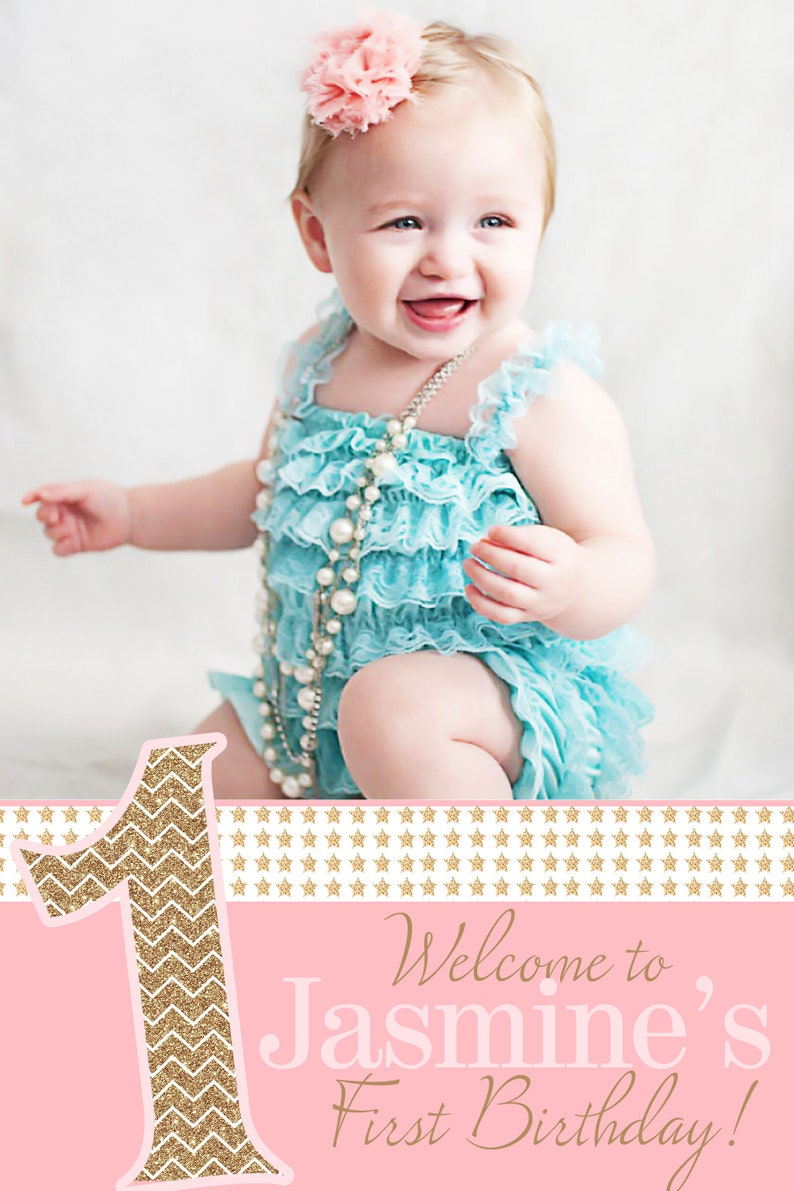 Printed Welcome Sign Foam Board Welcome Sign 1st Birthday Welcome Sign Twinkle 1st Birthday Photo Welcome Sign Welcome to the Party Sign