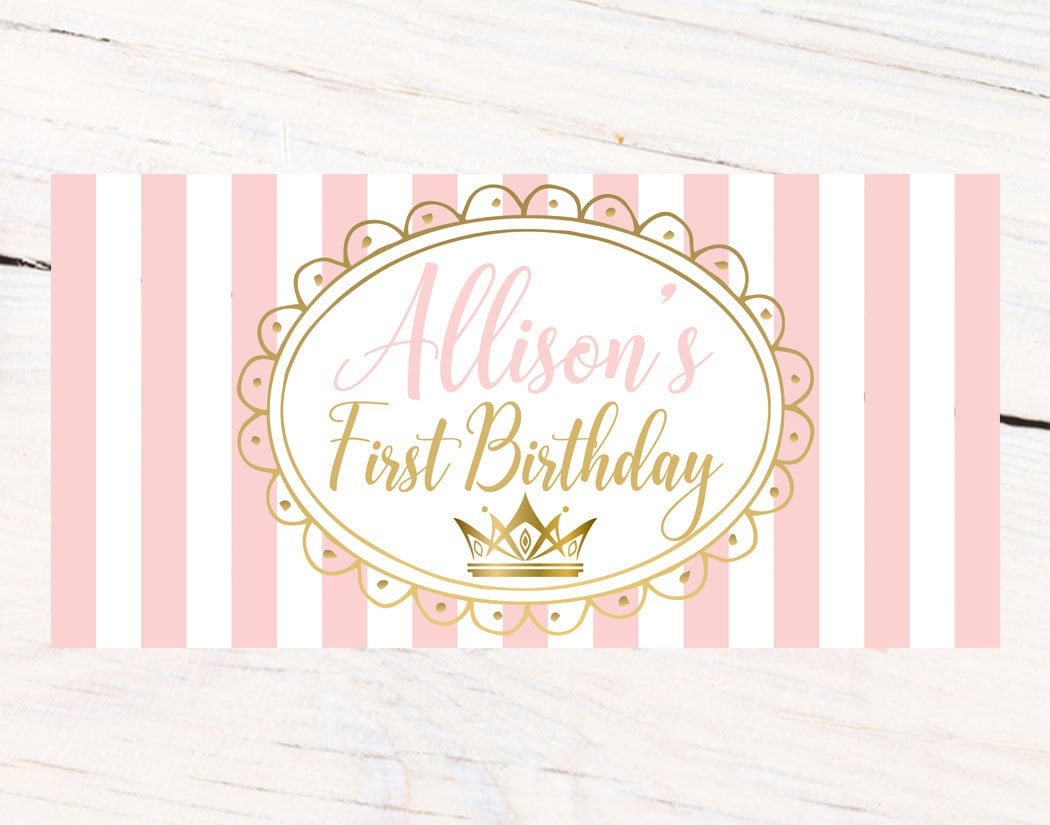 first birthday princess banner personalized party banners first