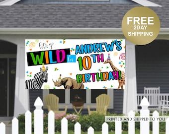 Birthday Banner   Personalized Birthday Banner   Party Animals Banner   Custom Banner   HONK Birthday Banner    Quarantine Birthday Banner