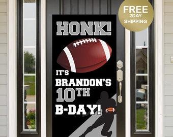 Football Birthday Door Banner | Birthday Quarantine Banner | Birthday Door Banner | 16th Birthday Door Banner | Yard Banner | Sports Banner
