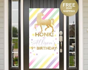 Honk Door Banner | Unicorn Birthday Banner | Quarantine Birthday Banner | Magical Unicorn Banner | Birthday Lawn Banner | Yard Banner