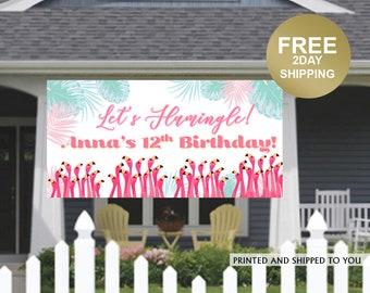 Birthday Banner | Personalized Birthday Banner | Flamingo Vinyl Banner | Custom Banner | HONK Birthday Banner |  Quarantine Birthday Banner