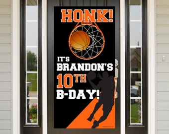 Quarantine Birthday Door Banner | Birthday Quarantine Banner | Basketball Door Banner | 16th Birthday Door Banner | Sports Yard Banner