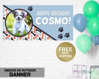 Birthday Banner   Personalized Birthday Banner   Outdoor Banner   Birthday Yard Banner   Doggy Birthday Banner, Lawn Banner