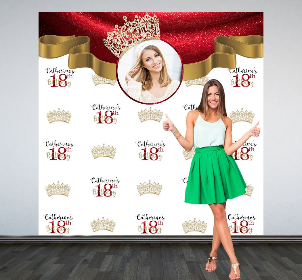 18th Birthday Personalized Photo Backdrop