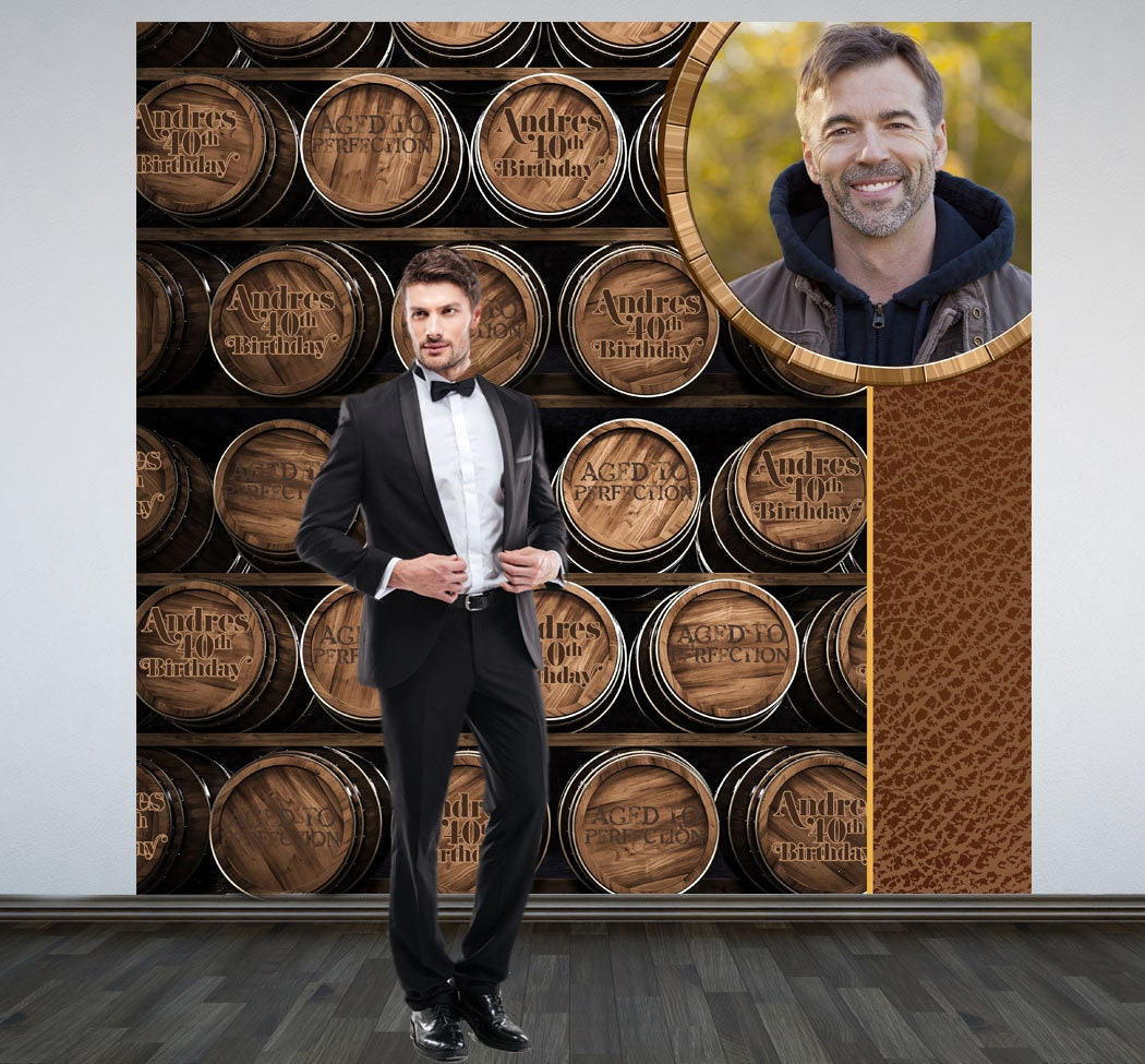 Aged To Perfection Party Personalized Photo Backdrop
