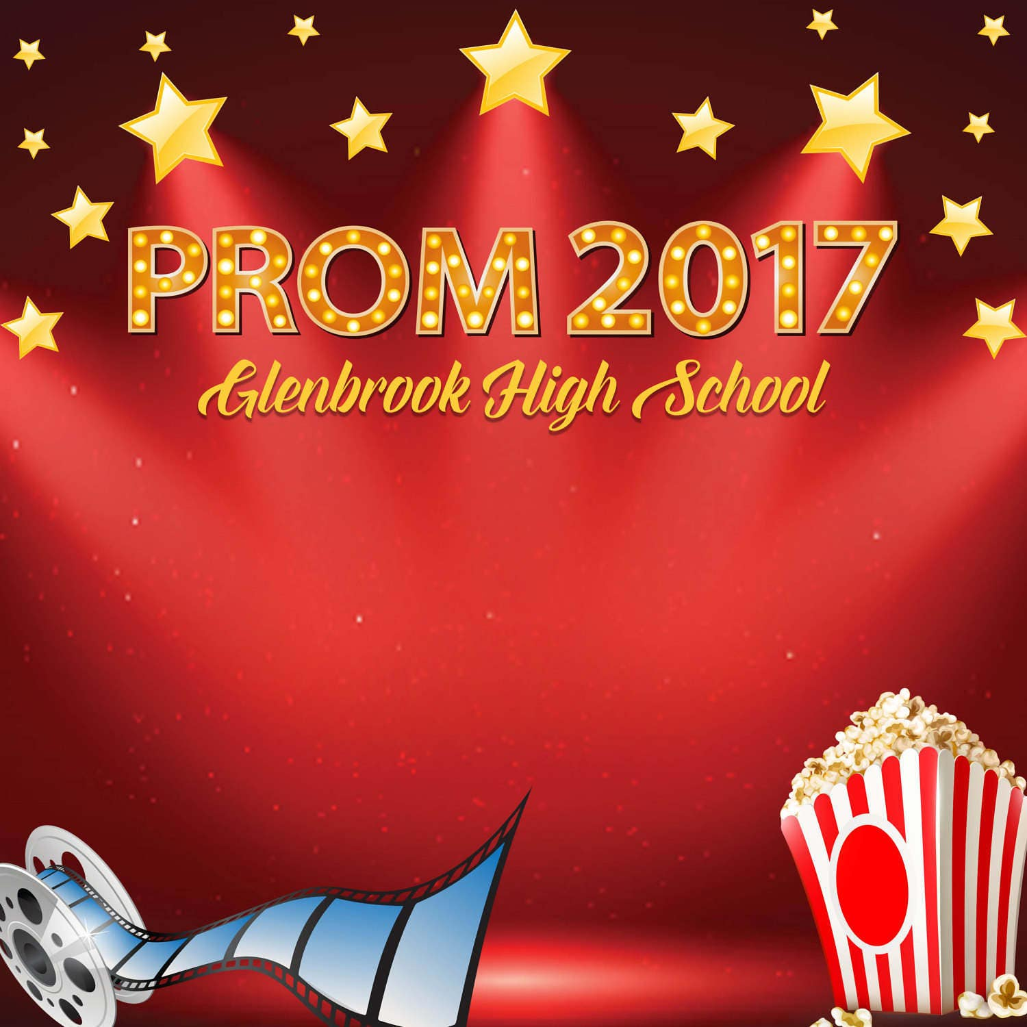 Prom Personalized Photo Backdrop