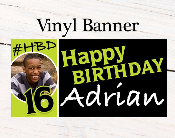 happy birthday boys banner personalized party banners boys etsy