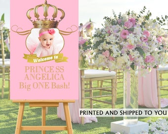 Royal Princess Party Welcome Sign, Welcome to the Party Sign, Photo Royal Birthday Welcome Sign, Foam Board Sign, Printed Welcome Sign