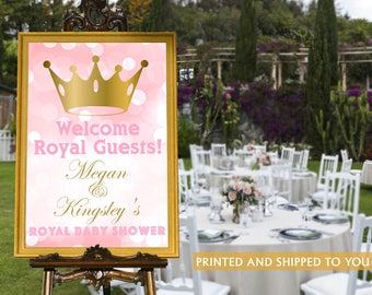 Little Princess Welcome Sign - Baby Shower Prince Sign - Welcome Sign First Birthday, Royal Baby Shower Foam Board Sign, Princess Sign
