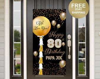 Birthday Door Banner | Birthday Quarantine Banner | 80th Birthday Door Banner | 50th Birthday Door Banner | Birthday Yard Banner