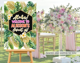 Aloha Party Welcome Sign   Welcome to the Party Sign   Birthday Welcome Sign   Foam Board Welcome Sign   Printed Welcome Sign   Sweet 16