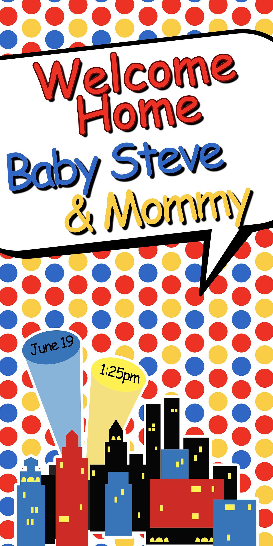 Welcome Home Baby Door Banner Personalized Baby Boy Party Banner It S A Boy Welcome Banner Welcome Home Baby Banner Super Hero Banner