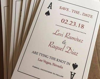 Customized Las Vegas Save The Dates