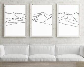 minimalist poster etsy